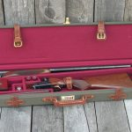Canvas and leather gun case deluxe with sxs 1053