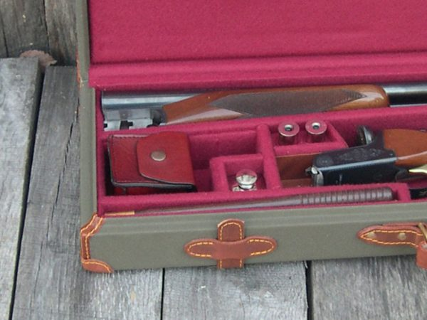 Canvas and leather gun case deluxe with sxs 1053 3