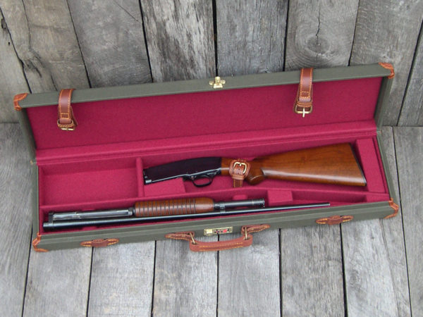 canvas & leather winchester M42 case