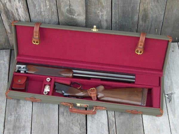 canvas and leatehr gun case 989 O-U 3
